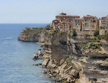 View on the cliffs of the city of Bonifacio