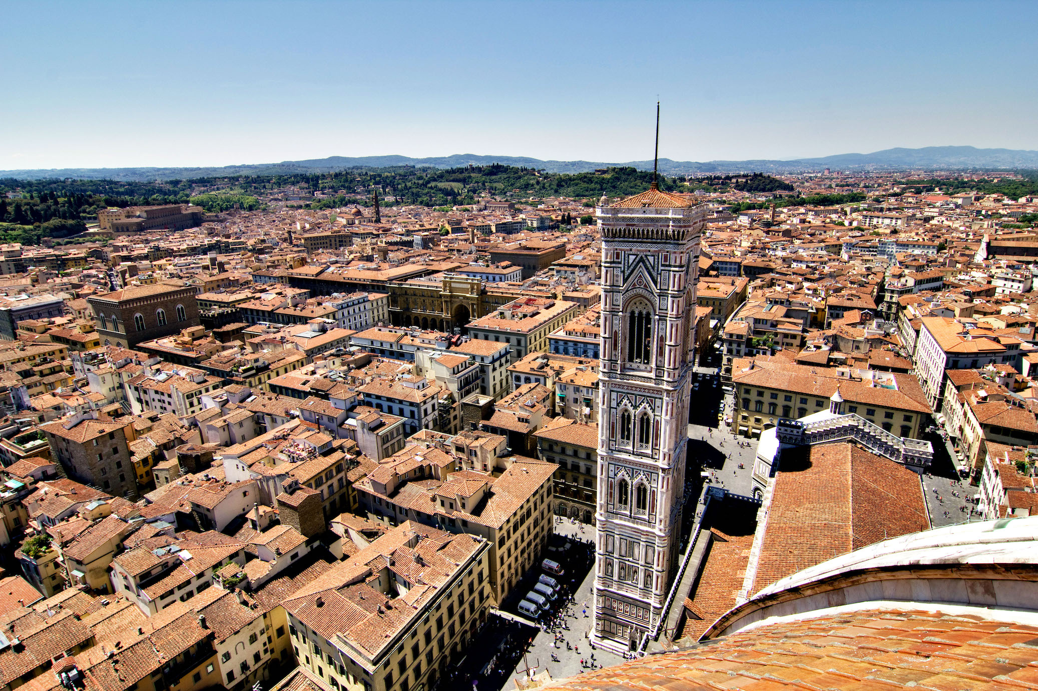View on the ancient city centre of Florence, Italy. ©