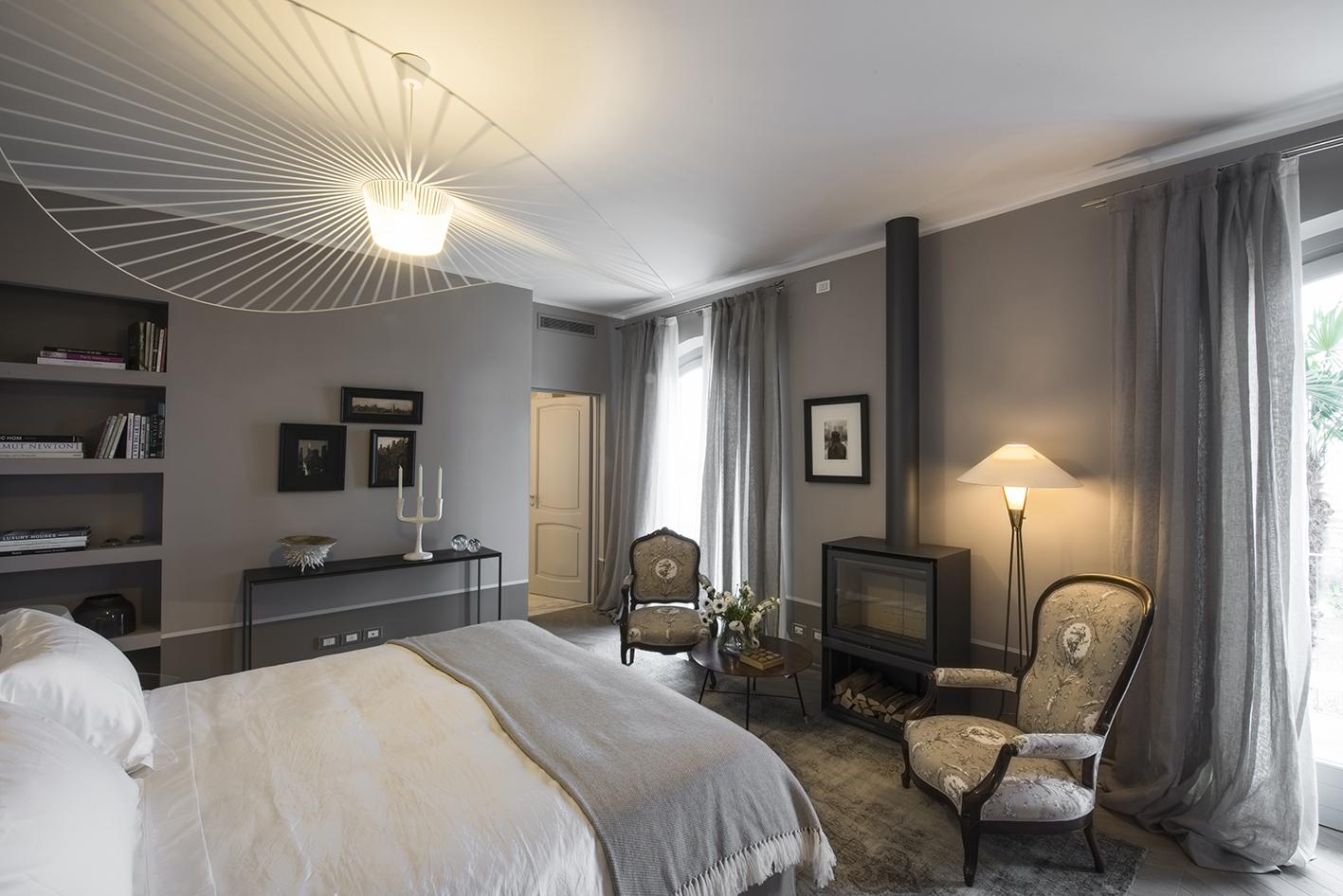 An image of the Libeccio suite in Villa Gilda.